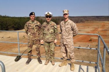 Due ufficiali presso the Basic School dell'US Marine Corps