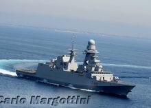 la fregata Carlo Margottini, riceve la Bandiera di Combattimento