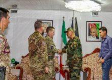 Apprezzamento delle autorità afgane per la consulenza e il supporto fornito dai militari italiani