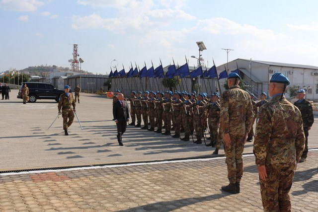 L'Ambasciatore d'Italia in Libano in visita ai Militari Italiani