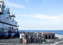 Nave San Giorgio, termina fase addestrativa a favore della Marina e della Guardia costiera libiche