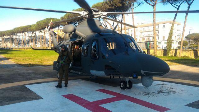 UOMO IN PERICOLO DI VITA TRASPORTATO D'URGENZA DALL'AERONAUTICA MILITARE