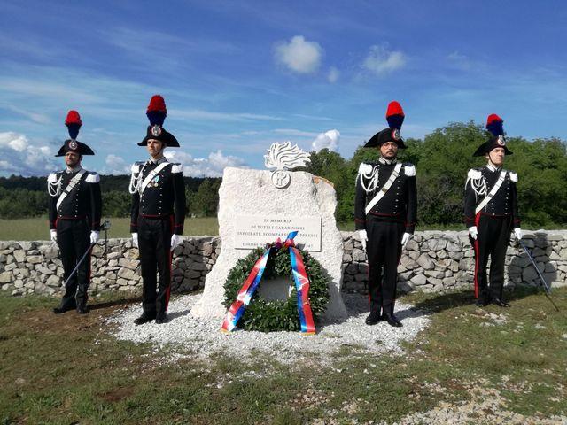 TRIESTE. INAUGURAZIONE MONUMENTO IN MEMORIA DI TUTTI I CARABINIERI INFOIBATI