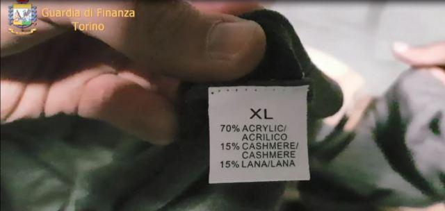 """GDF TORINO: FALSO """"MADE IN ITALY"""", SEQUESTRO PER UN VALORE DI OLTRE 500.000 EURO"""