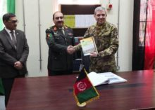 AFGHANISTAN: GEN. CAMPOREALE ALLA AFGHAN NATIONAL DEFENSE UNIVERSITY