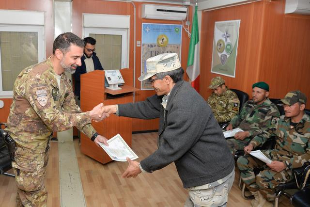 MISSIONE IN AFGHANISTAN: CONTRASTO AGLI ORDIGNI ESPLOSIVI