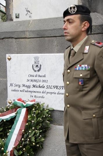 Stele Commemorativa per il Sergente Maggiore Silvestri