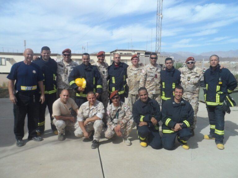 Formazione antincendio: professionisti della Marina in Sinai