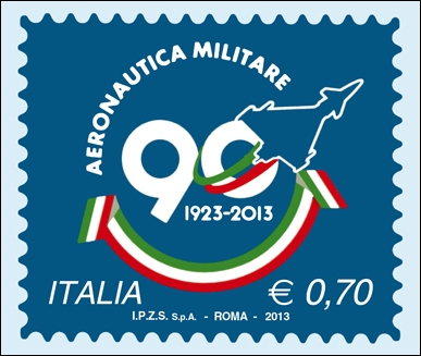 Aeronautica Militare: un francobollo per i 90 anni