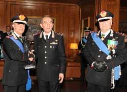 Cerimonia di avvicendamento nella carica di Vice Comandante dell'Arma dei Carabinieri