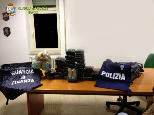 """Operazione """"FLYING COCAINE"""" Sequestrati circa  43kg di Cocaina purissima su un volo proveniente da Santo Domingo."""