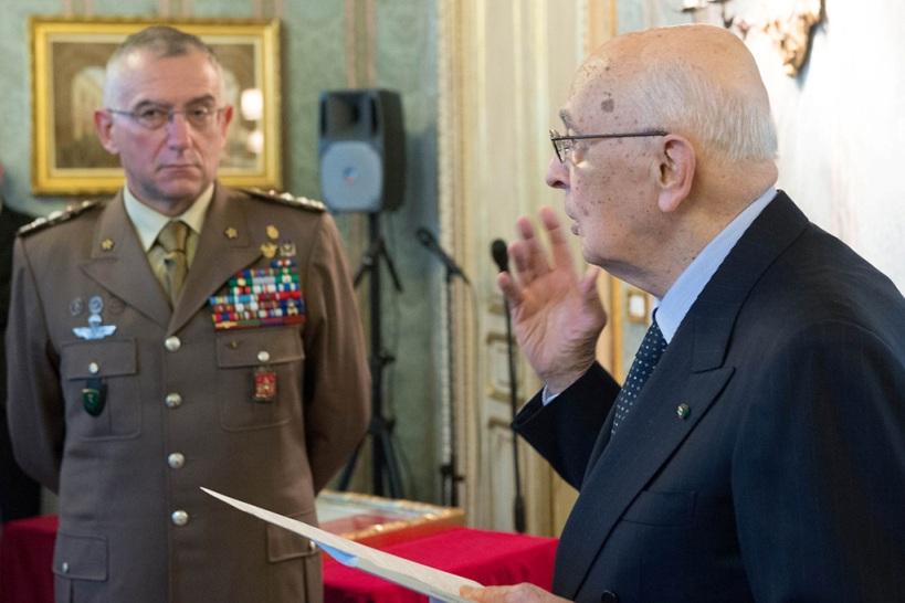 Presidente della Repubblica riceve il Capo di SME