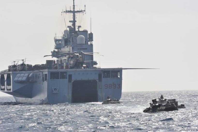Rientro in patria per i 320 tra uomini e donne di Nave San Marco