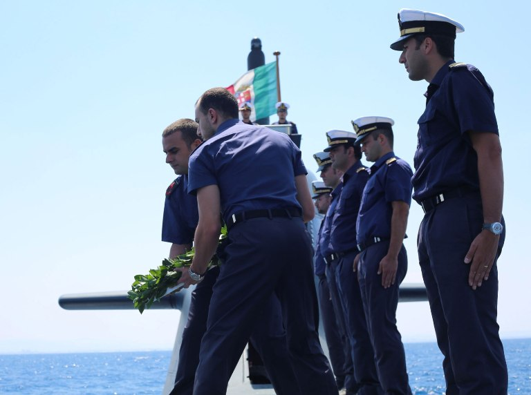 Il ricordo dei caduti del sommergibile Scire'