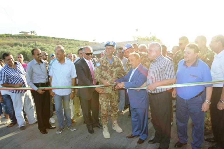 Libano :Inaugurata una strada realizzata grazie ai Caschi Blu Italiani