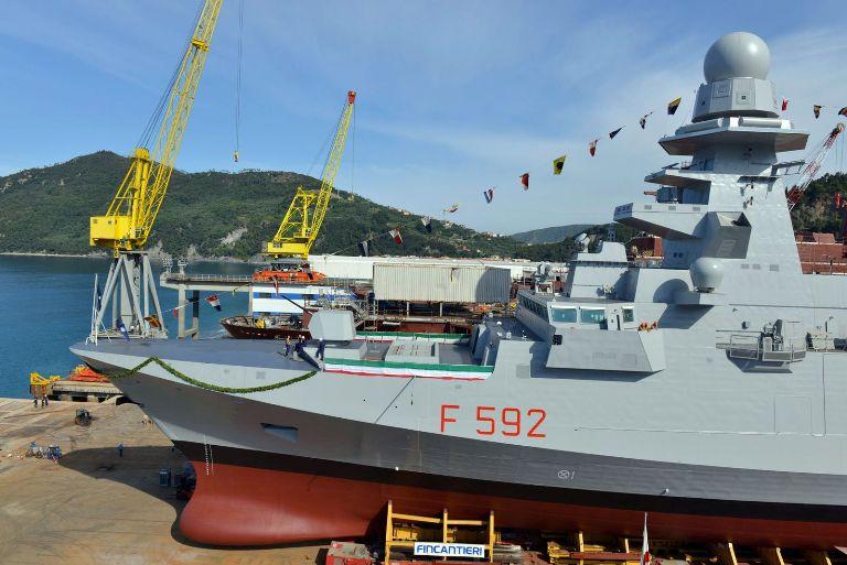 Riva Trigoso: la Marina vara Nave Margottini