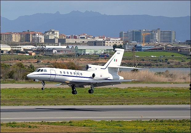 Un Falcon 50 effettua un trasporto sanitario trasporto sanitario