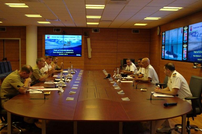 Il Comandante dei Sommergibili della NATO in visita al Comando Sommergibili Marina -