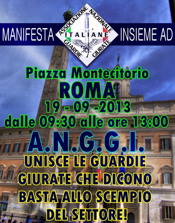 A.N.G.G.I. : manifestazione a Roma il 19 settembre