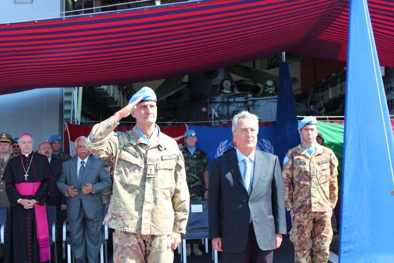 Consegnata la Bandiera dell'ONU a al cacciatorpediniere Andrea Doria -