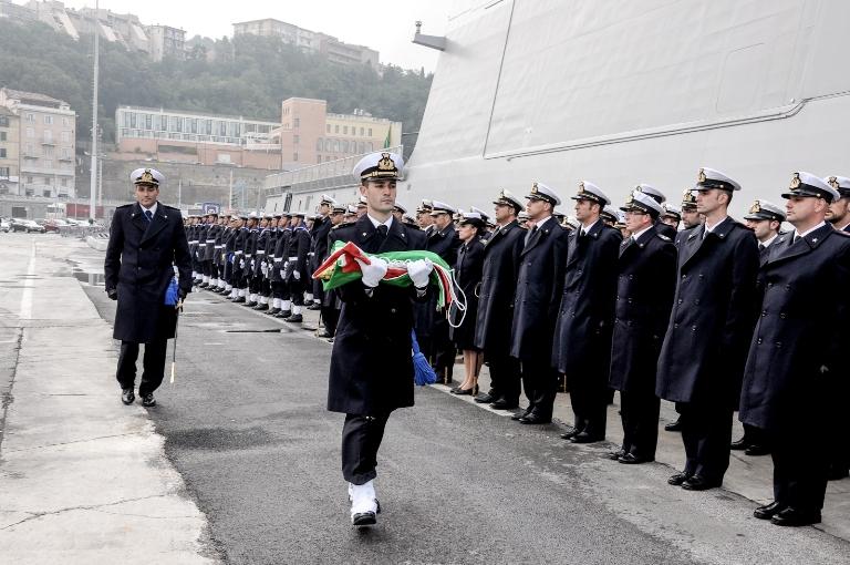 Consegnata la Bandiera di Combattimento a nave Bergamini --