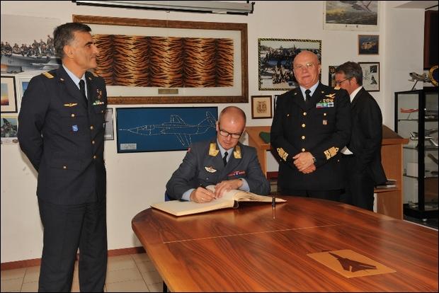 Visita del Comandante delle Forze Aeree Norvegesi in Italia----