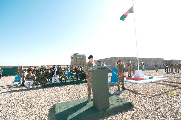 2. Discorso del generale Pellegrino al termine della cerimonia di cesCessione Fob La Marmora a Shindand