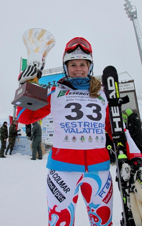 La francese Barthet vincitrice del Trofeo Truppe Alpine