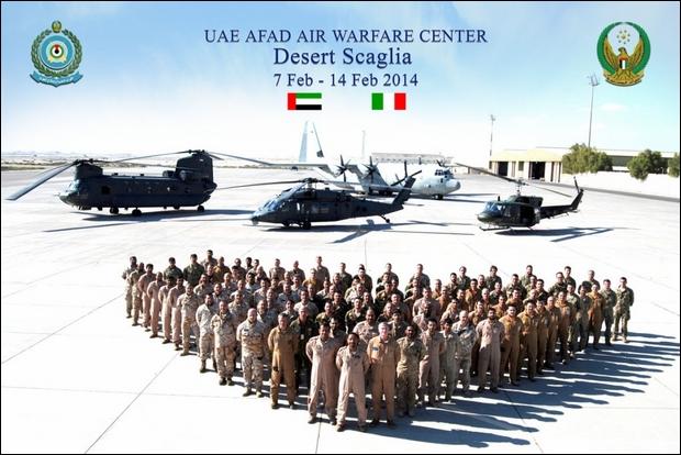 """Conclusa la """"Desert Scaglia"""" negli Emirati Arabi Uniti"""