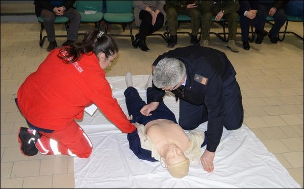 Corso di primo soccorso per il personale di Caserta -