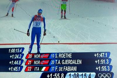 Sochi 2014 : Oberhofer sfiora  l'impresa nella sprint