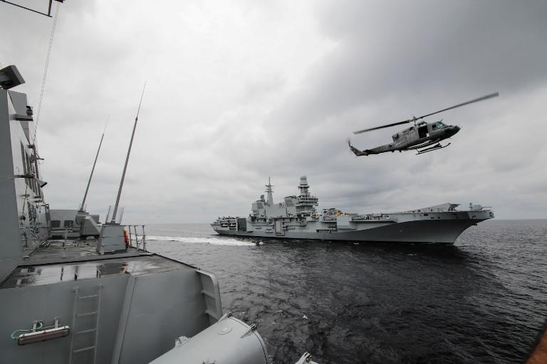 prima volta in Congo per le Navi della Marina Militare---