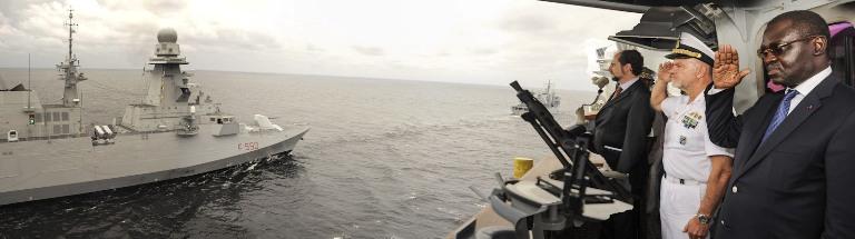prima volta in Congo per le Navi della Marina Militare----