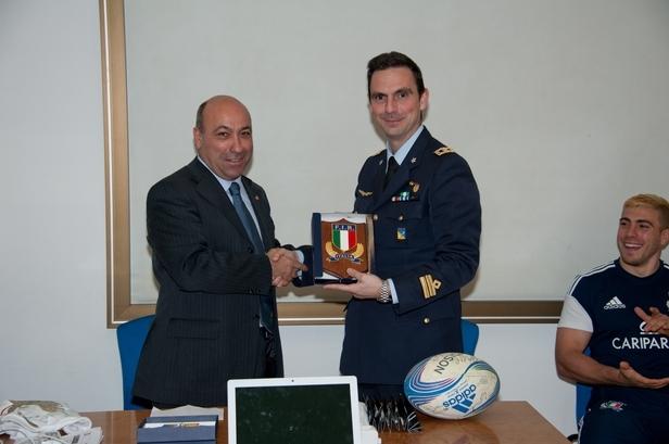Gli allievi Marescialli incontrano la Nazionale di Rugby--