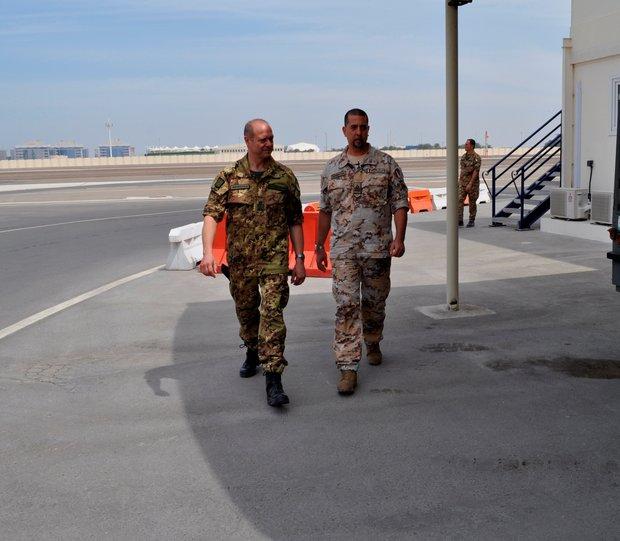Il Comandante Logistico visita la TFA di Al Bateen