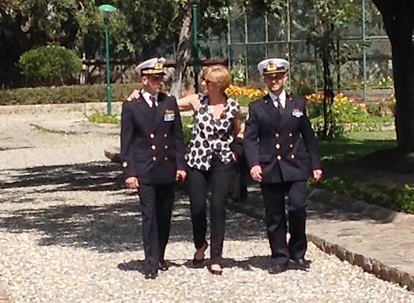 Il Ministro Pinotti incontra i fucilieri di Marina -