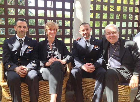 Il Ministro Pinotti incontra i fucilieri di Marina