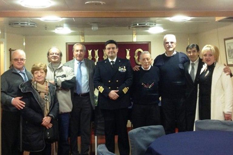 Marina Militare duiliani di tutti i tempi si ritrovano sul cacciatorpediniere Caio Duilio ---