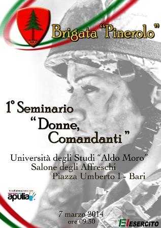 """Seminario """"Donne, comandanti"""" alla Pinerolo"""