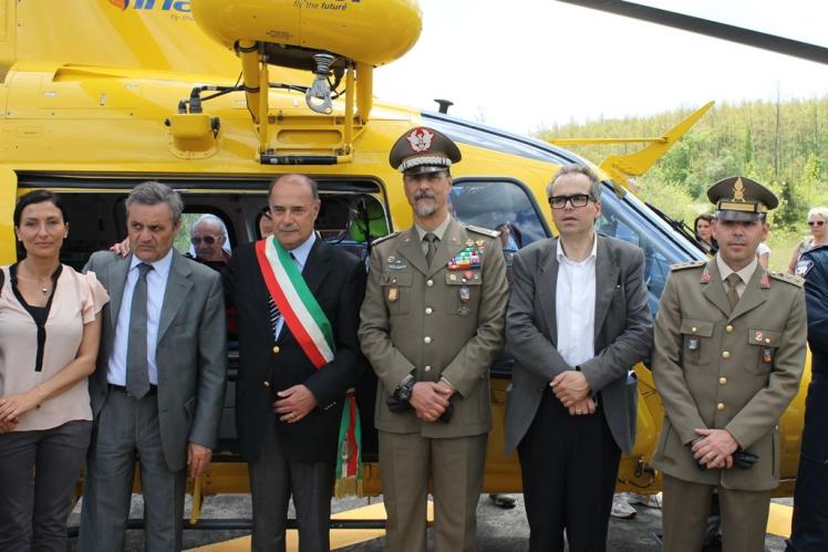 A Carpegna ( Pu) inaugurata la nuova zona atterraggio elicotteri -