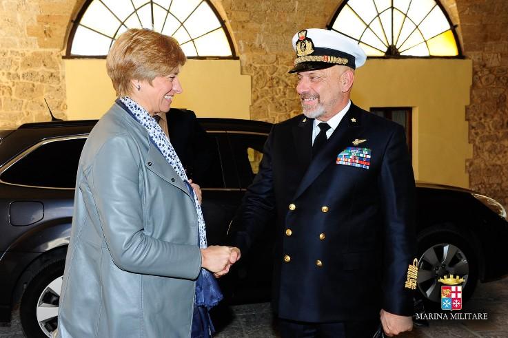 Visita del Ministro della Difesa al Comando della Brigata Marina San Marco--
