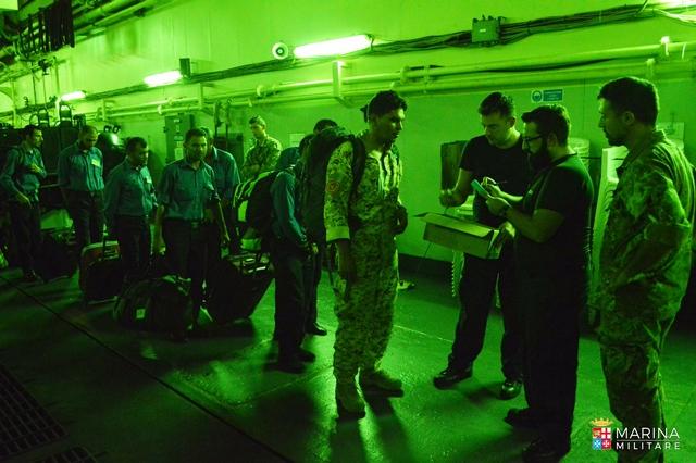 Marina Militare: Termina il primo ciclo addestrativo a favore della nuova Marina/Guardia Costiera Libica a bordo di Nave San Giorgio