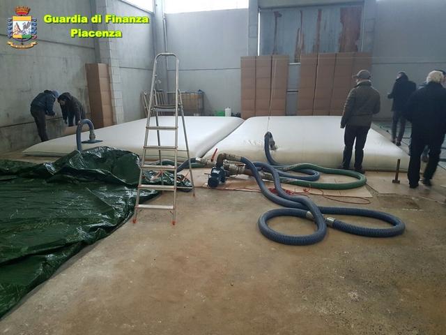GdF Piacenza: furto e rivendita accertata di oltre 50 tonnellate di prodotti petroliferi