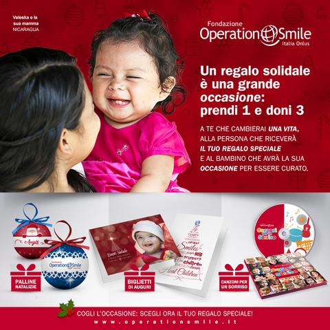A NATALE REGALA UN SORRISO AI BAMBINI DI OPERATION SMILE ITALIA ONLUS