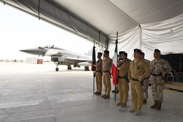 MISSIONE IN IRAQ: I VELIVOLI EUROFIGHTER DANNO IL CAMBIO AGLI AMX