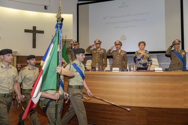 LA SANITÀ DELL'ESERCITO COMPIE 186 ANNI