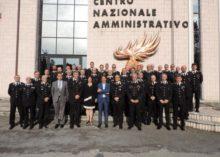IL PRESIDENTE DELL'I.N.P.S., HA VISITATO IL CENTRO NAZIONALE AMMINISTRATIVO DELL'ARMA DEI CARABINIERI
