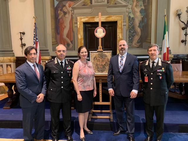 AMBASCIATA USA - CERIMONIA DI RESTITUZIONE ALL'ITALIA DI OPERE TRAFUGATE
