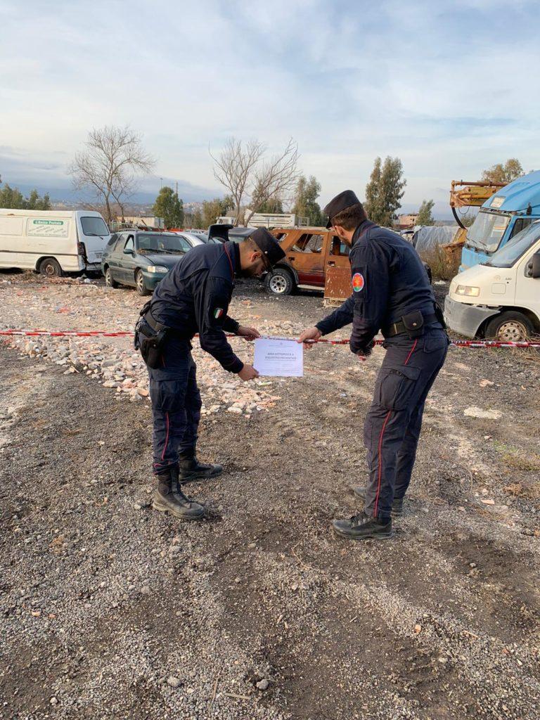 Carabinieri Forestali sequestrano terreno