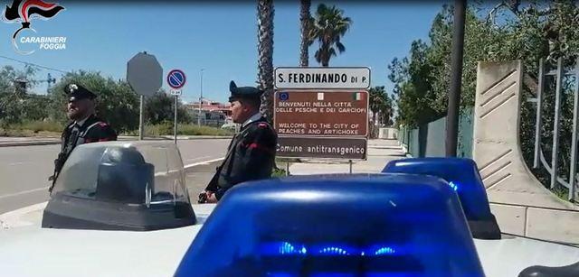 SAN FERDINANDO DI PUGLIA (BT): RUBARONO AUTO E AGGREDIRONO CUSTODE PER FUGGIRE. ARRESTATI
